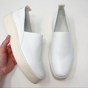 New Vince Saxon 2 Slip-On Platform Sneaker White